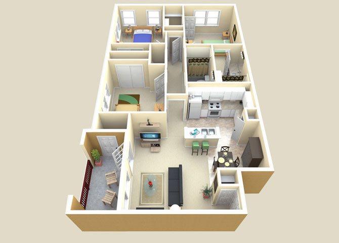 the Mirage floor plan