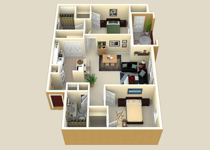the Sorrento floor plan