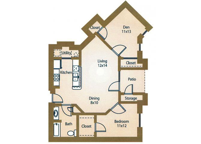 the A5a Manhattan floor plan