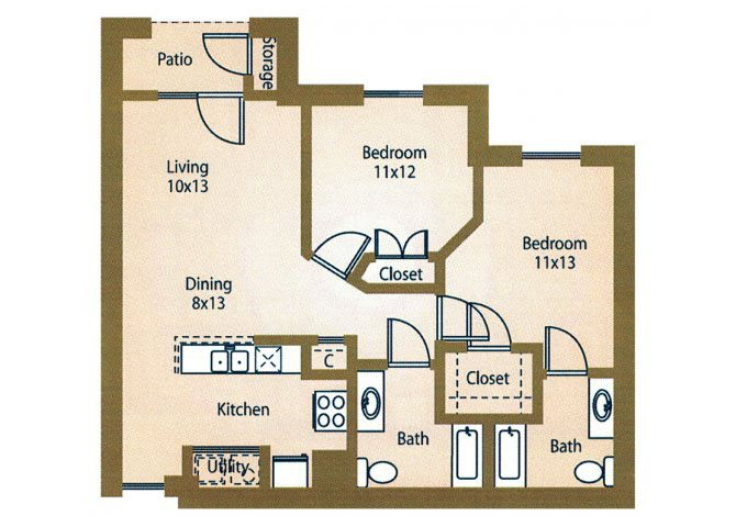 the B1b New York floor plan