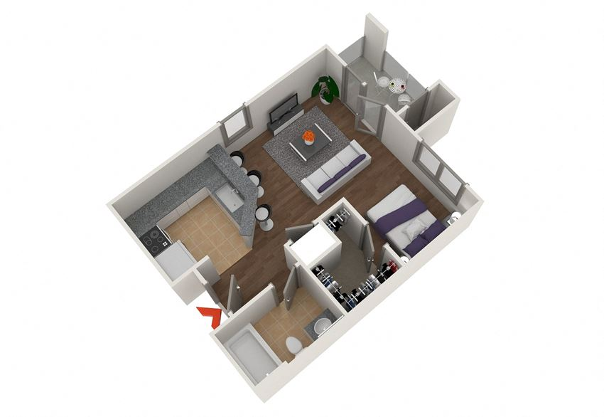 0 Bed 1 Bath Floor Plan  at Highland View Apartments, Atlanta