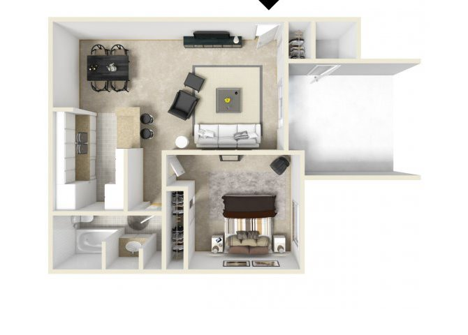 The A floor plan.