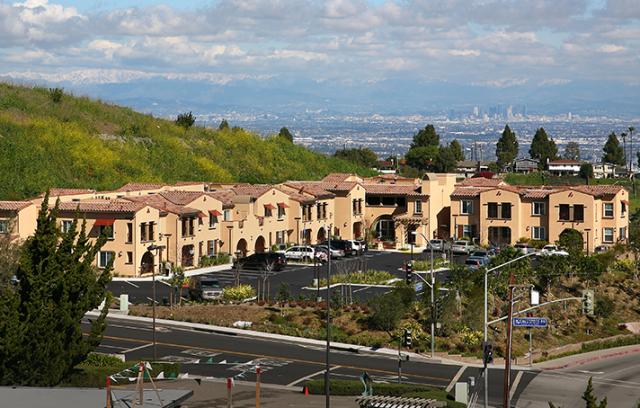 View of community l Mirandela Apartments in Rancho Palos Verdes