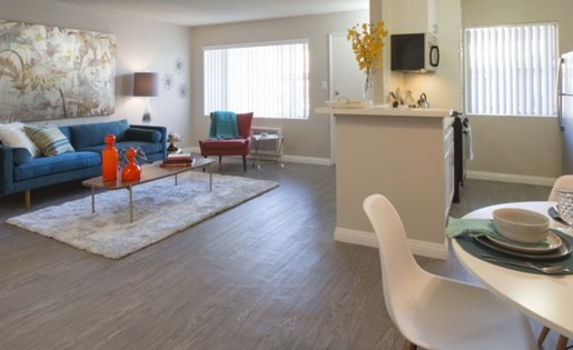 The Parker Apartments for Rent in El Monte, CA - Living Room Wood Floor