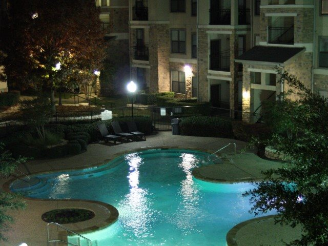 Evening pool view Pecan Point Apts l  463 Westfield Blvd. Temple, TX 76502