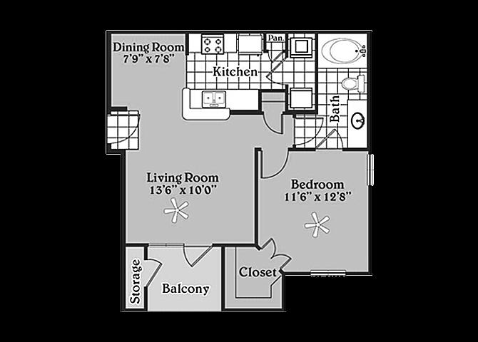 the A1 Amling floor plan
