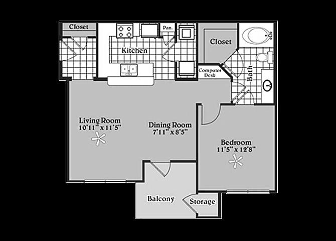 the A2 Byrd floor plan