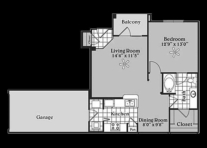 the A3 Desirable floor plan