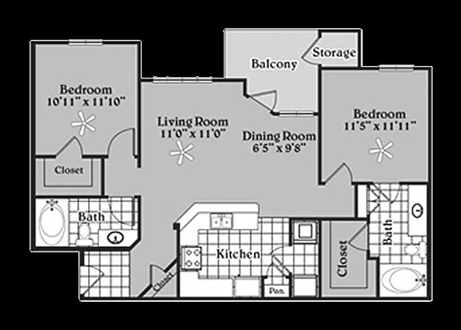 the B1 Lakota floor plan