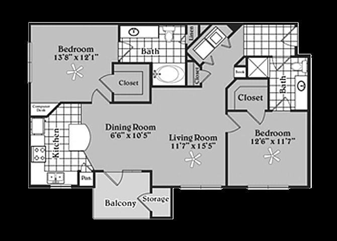 the B2 McMillan floor plan
