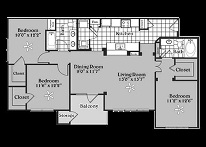 the C1 Zinner floor plan