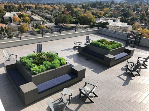 Roof Top view l Ryan Tower Apartments in San Mateo CA