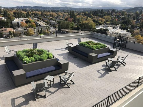 Rooftop view l Ryan Tower Apartments in San Mateo CA