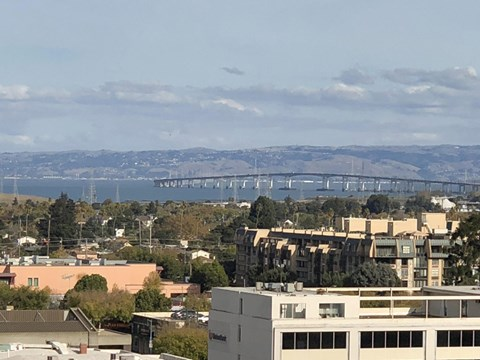 view of city  l Ryan Tower Apartments in San Mateo CA