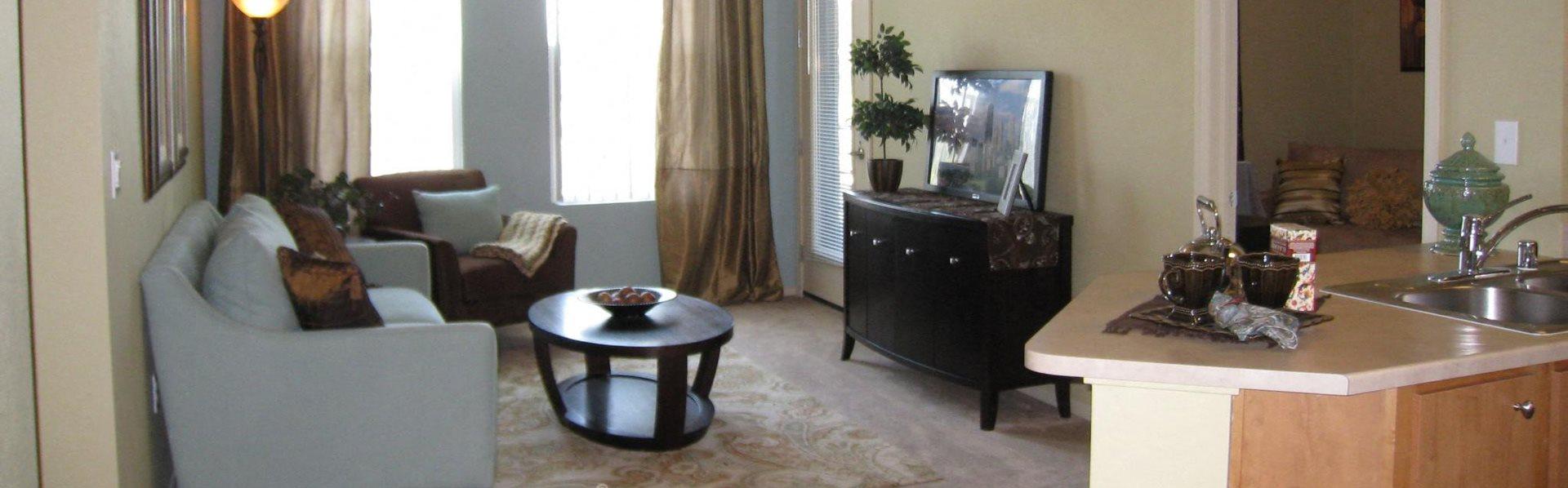 Living Room   Seasons at Laguna Ridge apts for rent