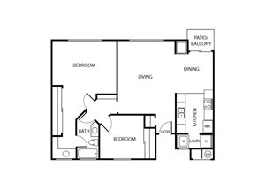 Coronado Floor Plan | Serrano Highlands Apartments | Apartments in Lake Forest