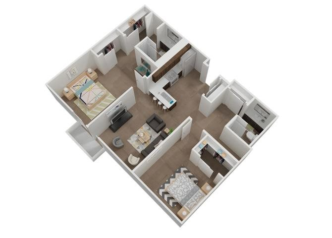 The 2x2 floor plan.