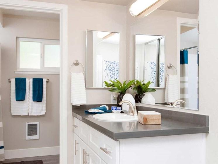 Bathroom sink vanity | Stoneridge Luxury Apartments in Walnut Creek, CA