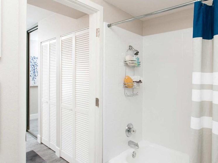 Bathroom shower  | Stoneridge Luxury Apartments in Walnut Creek, CA