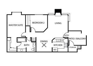Birch Floor Plan l Plan 2 | Sycamore Greens Apartments | Apartments in Vista