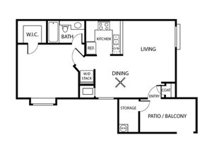 Ficus Floorplan | Sycamore Greens Apartments | Apartments in Vista