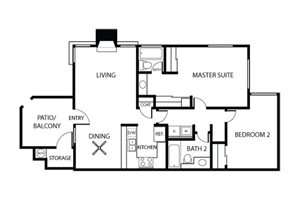 Maple Floorplan l Plan 3 | Sycamore Greens Apartments | Apartments in Vista