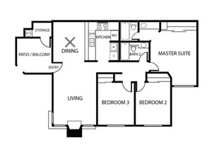 Olive Floor Plan l Plan 4 | Sycamore Greens Apartments | Apartments in Vista
