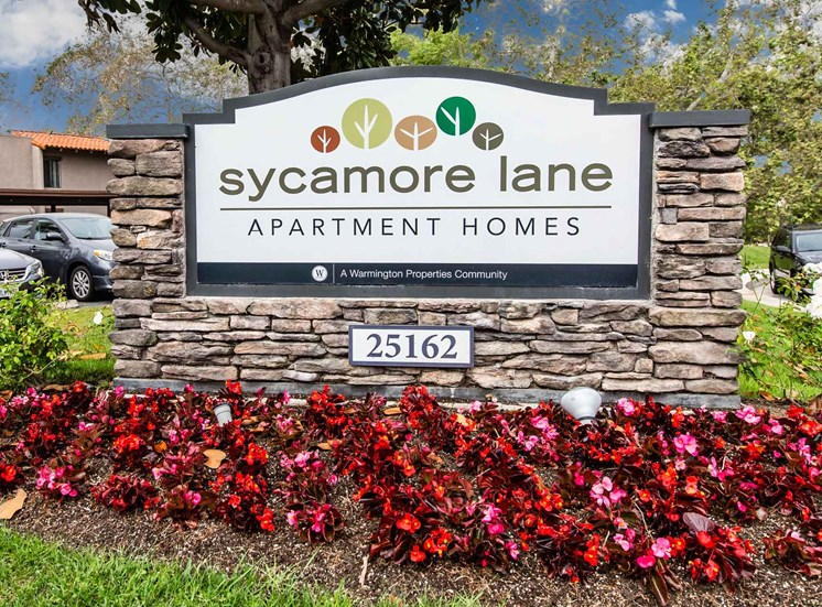 sycamore lane sign