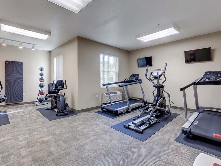 Fitness Room  l Vintage at Bouquet Canyon Senior Apartments