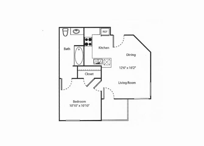 1B floor plan.