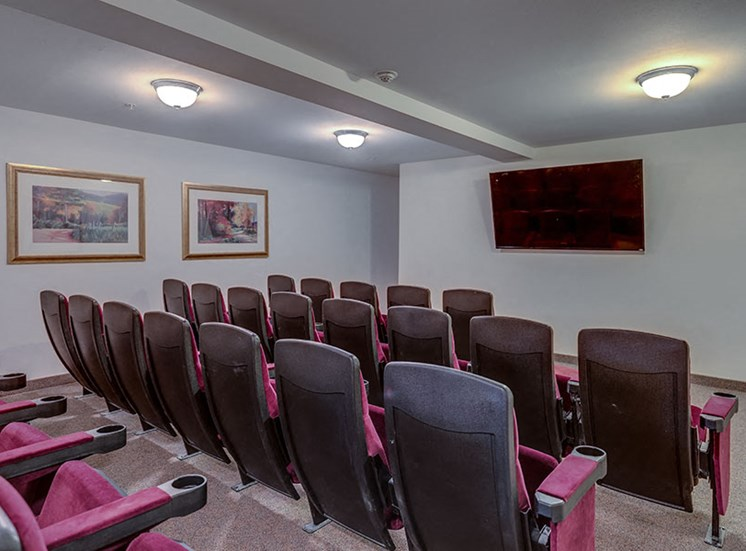 Vintage at Burien Apartments l  Movie Room Theatre Seating