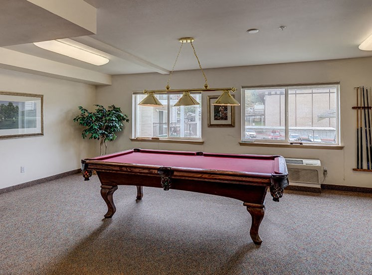 Vintage at Burien Apartments l  Pool Table