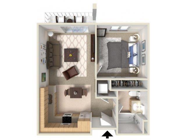 1x1 floor plan.
