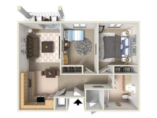2x1C floor plan.