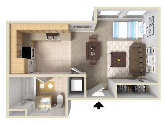 Studio floor plan.