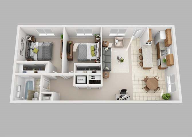 the Flat floor plan
