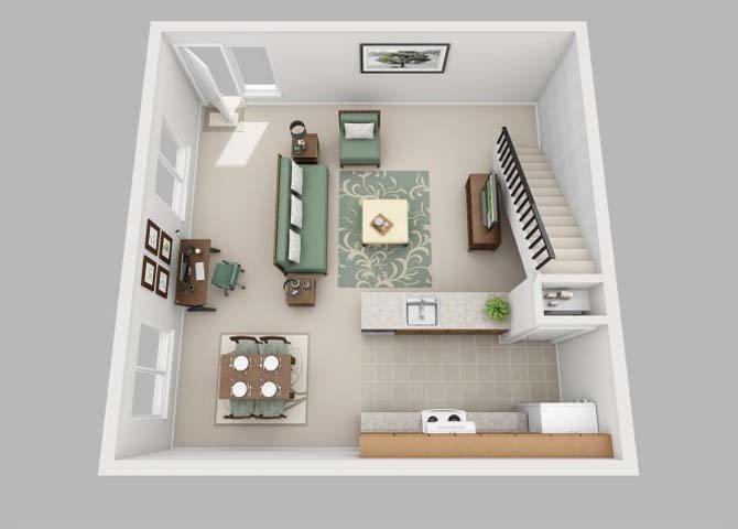 the Townhouse floor plan