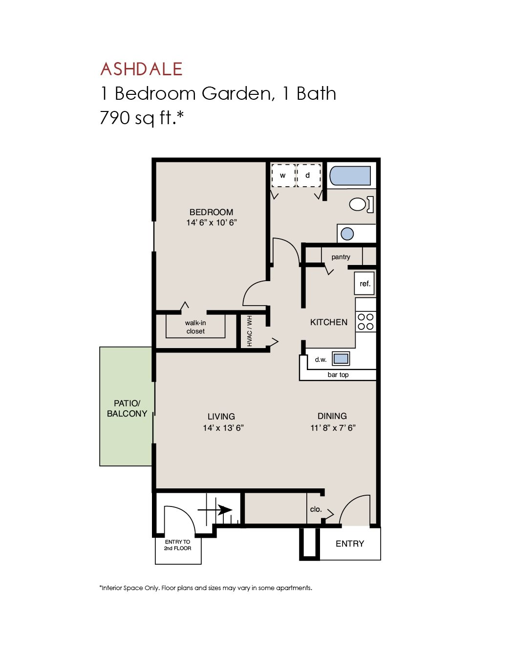 Ashdale - 1 Bedroom Garden