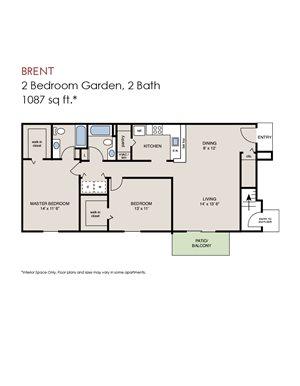 Brent - 2 Bedroom Garden