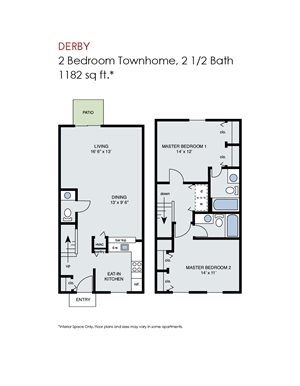 Derby - 2 Bedroom Townhome