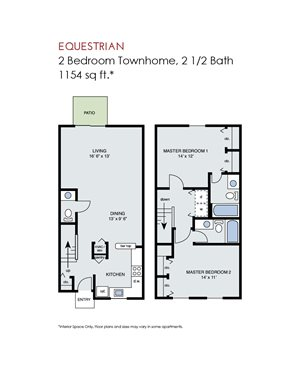 Equestrian - 2 Bedroom Townhome