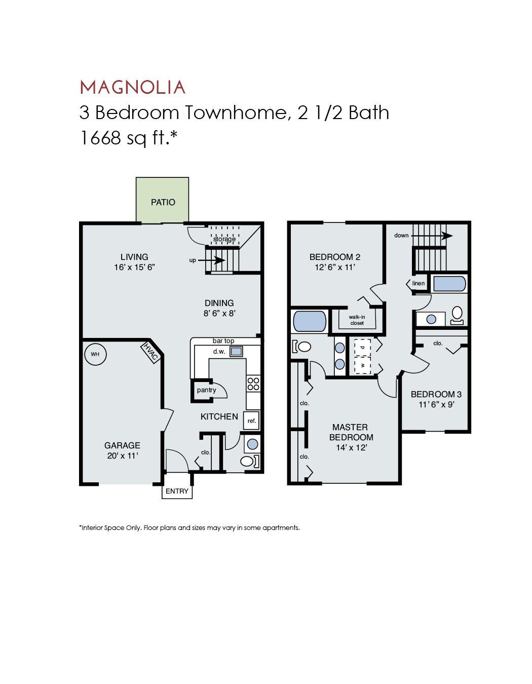 Magnolia Townhome w/ Gar Floor Plan 15