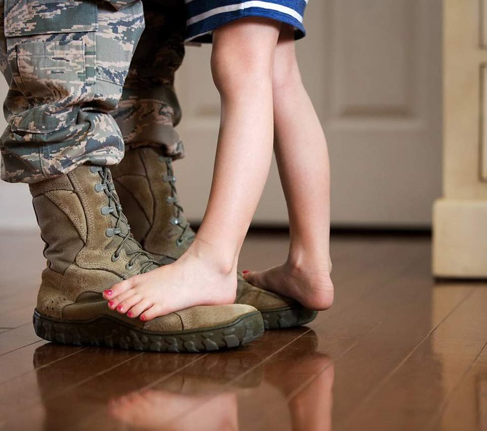 Reserve at Bucklin Hill Apartments_Silverdale WA_Army Boots and Little Girl