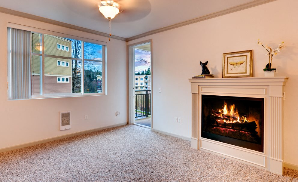 Fireplace at Beaumont Apartment Homes, 14001 NE 183rd Street, WA