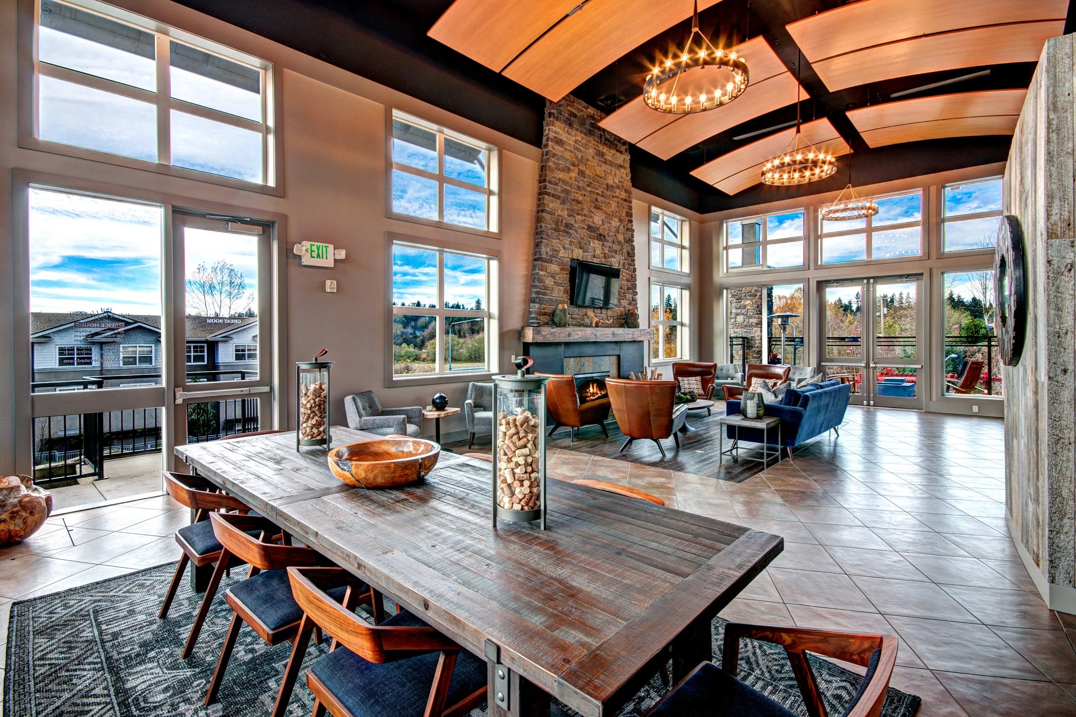 Spectacular Clubhouse Views at Beaumont Apartment Homes, Woodinville, WA