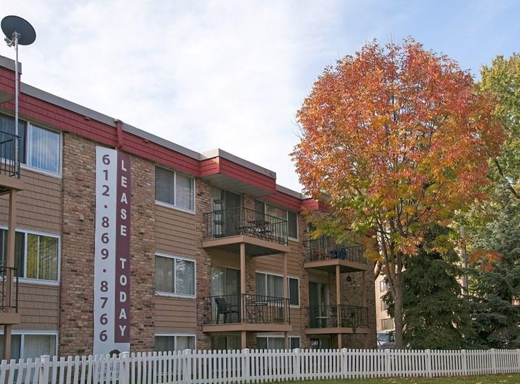 Exterior with balconies