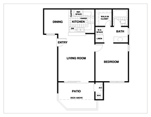 1 Bedroom, 1 Bath, at 1750 on First Apartments, CA, 93065