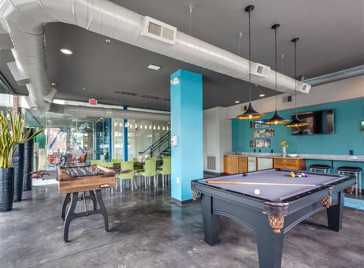 Image of Greenway Community Room with Pool Table and Foosball