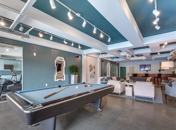 Billiards Table In Game Room at Greenway at Fisher Park, Greensboro, 27401