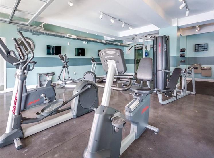 Cardio Machines In Gym at Greenway at Fisher Park, North Carolina, 27401